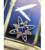 STAR brooch in blue colour