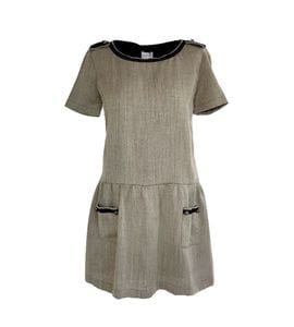 Beige woolen dress