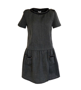 Grey woolen dress
