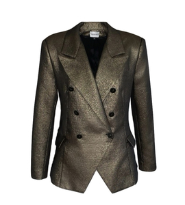 Black evening jacket with gold