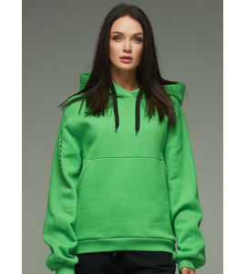 Short Hooded cotton jacket in Green