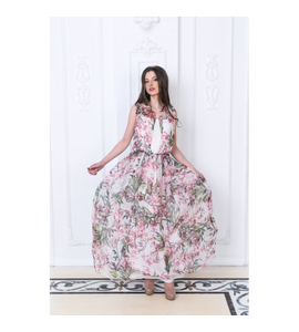 LONG SILK DRESS ANNABEL