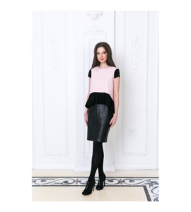 LEATHER SKIRT LEZZY