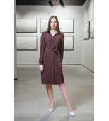 Shirt-dress with buttons in Brown